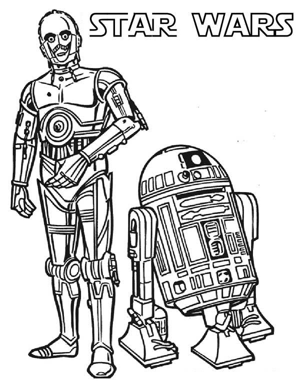 C3po And R2d2 The Star Wars Droids Coloring Page Download Print