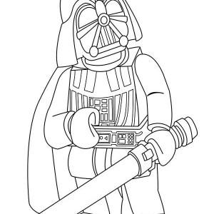 Cartoon Of Darth Vader In Star Wars Coloring Page
