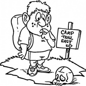 Finding Summer Camp Place Coloring Page