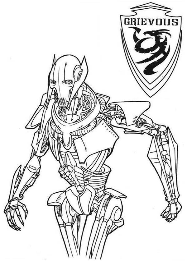 General Grievous From Star Wars Coloring Page - Download ...