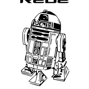 R2D2 In Star Wars Coloring Page