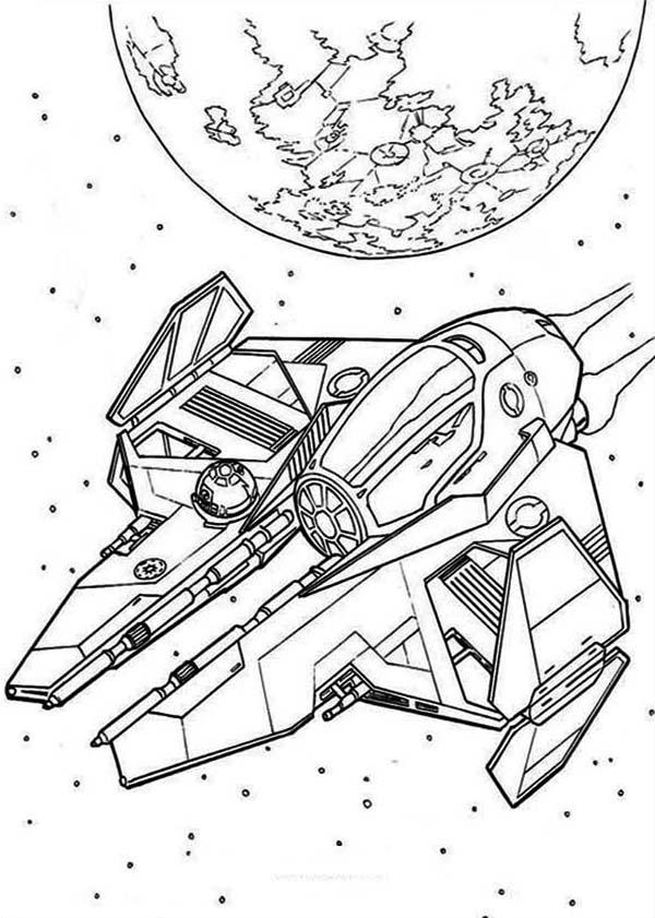 Star Wars Spaceships Coloring Page - Download & Print Online ...