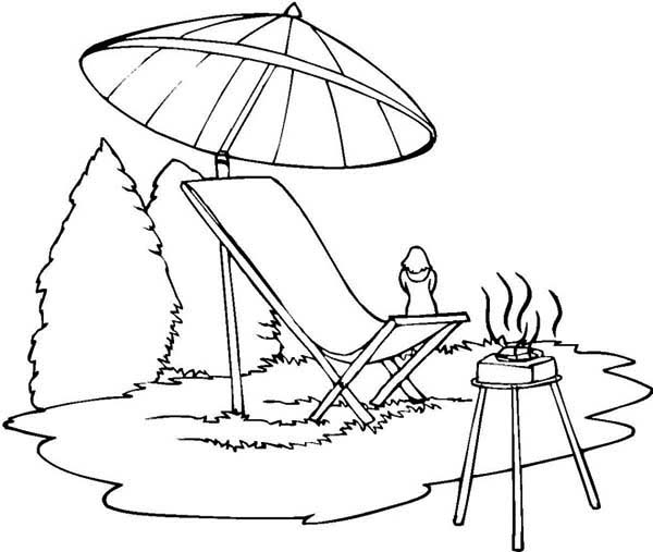 summer camp coloring pages - photo#38