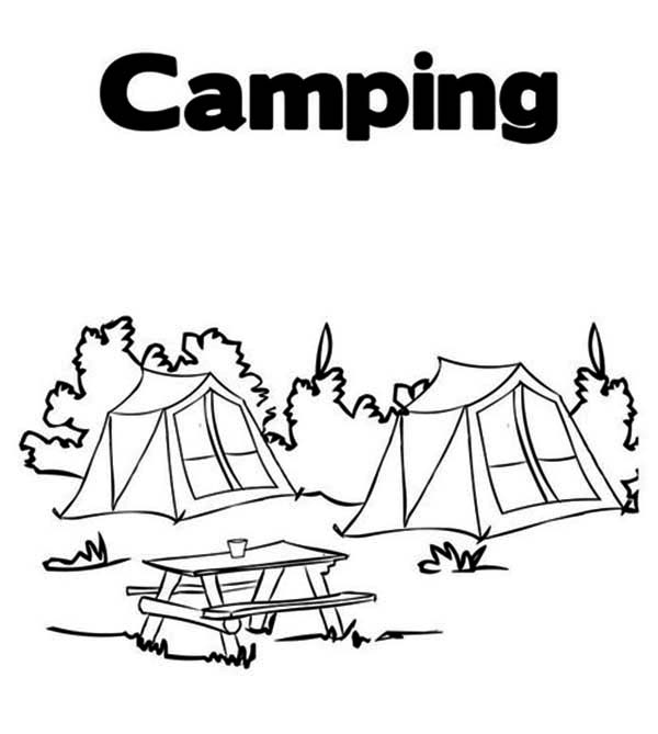 Camping Tent Coloring Pages Look at these amazing conversion ... | 669x600
