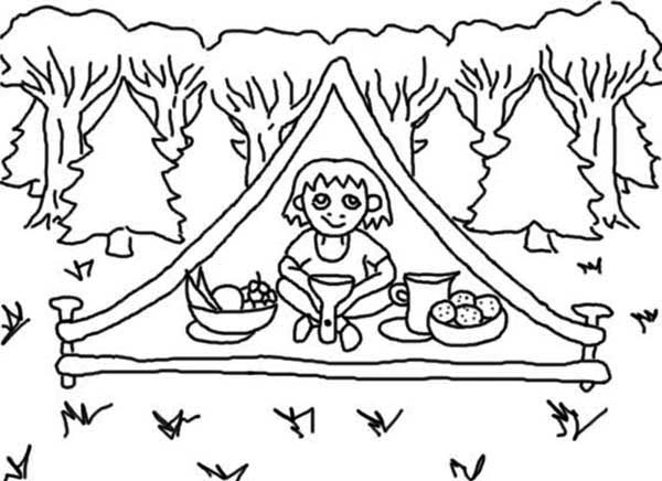 summer camp coloring pages - photo#39
