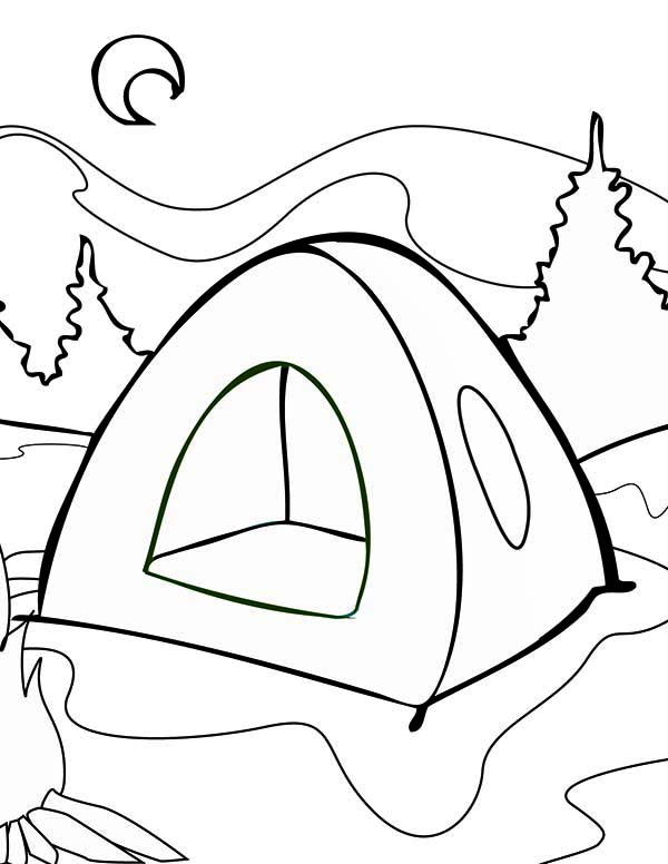 Camping Tent coloring page | Free Printable Coloring Pages | 776x600