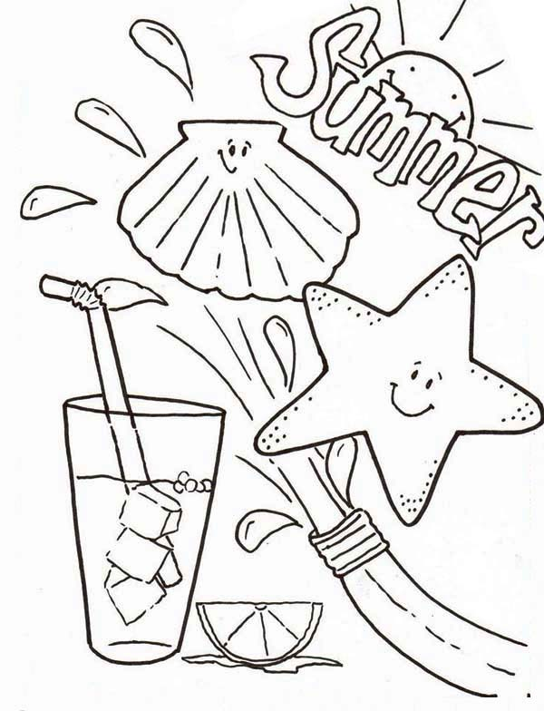 Summertime Fresh Drink Coloring Page - Download & Print ...