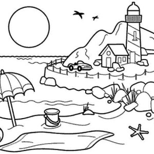 Summertime Holiday Coloring Page
