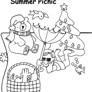 Summertime Picnic Coloring Page