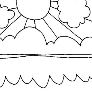 Sun Shiny Day On Summertime Coloring Page