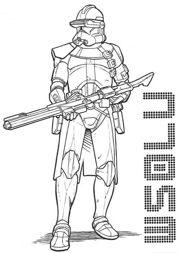 Clone Trooper Coloring Pages with regard to Encourage to color an ... | 840x600