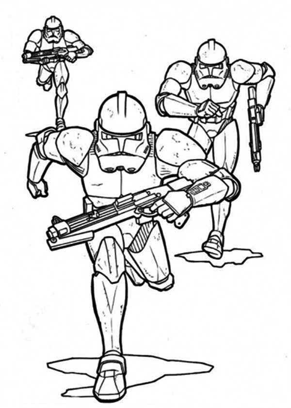 Download The Clone Troopers Pursuing In Star Wars Coloring Page - Download & Print Online Coloring Pages ...