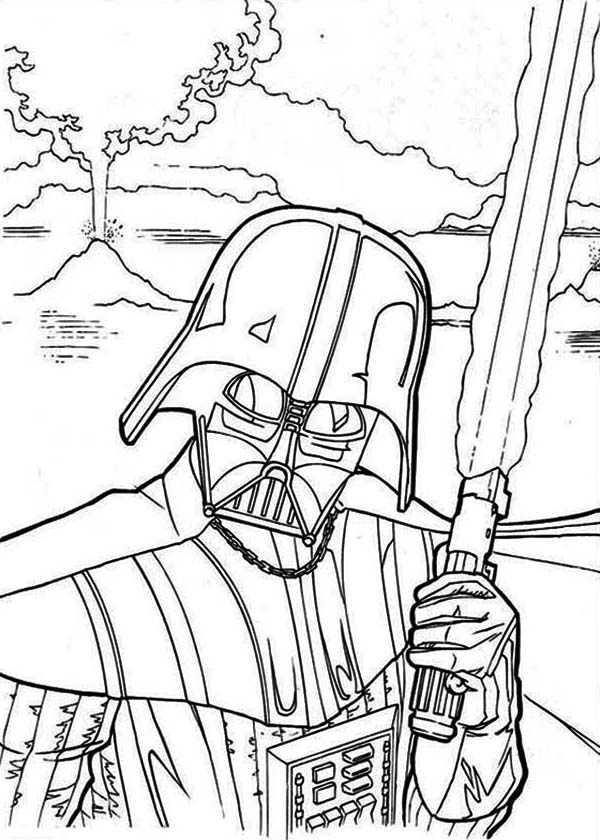 The Evil Darth Vader In Star Wars Coloring Page Download