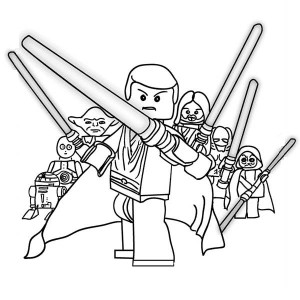 The Star Wars Characters Lego Coloring Page
