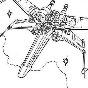 X Wing Fighter In Star Wars Coloring Page