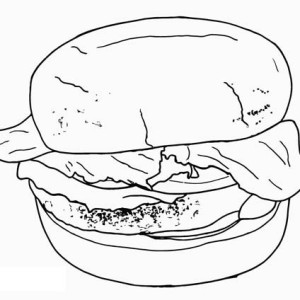 Addicted To Junk Food Hamburger Coloring Page