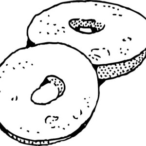 Donuts Junk Food Coloring Page