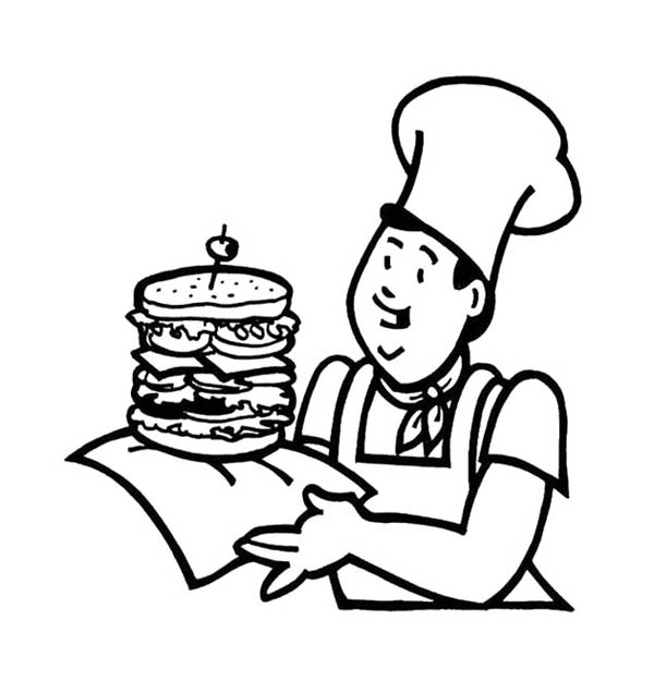 coloring pages of junk food - photo#17