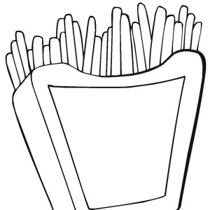 Favorite Junk Food Fries Coloring Page