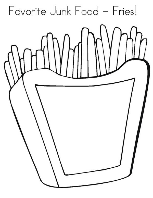 coloring pages of junk food - photo#12