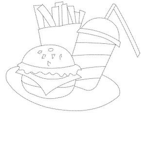 How To Draw Junk Food Coloring Page
