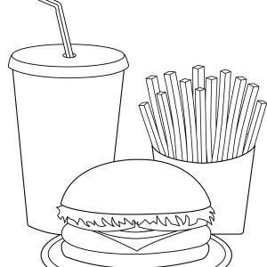 Junk Food Can Cause Many Illness Coloring Page