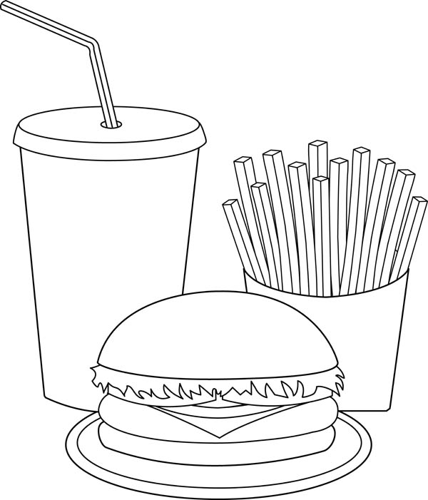 Junk Food Can Cause Many Illness Coloring Page Download Print Rhcolornimbus: Coloring Pages Fast Food At Baymontmadison.com