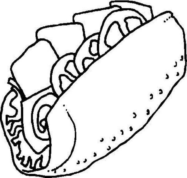 Junk Food Sandwich Coloring Page Download Print Online