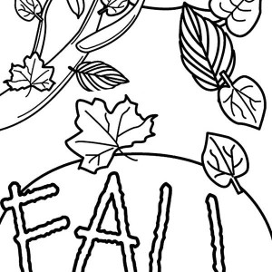 Autumn Leaf Picture Coloring Page