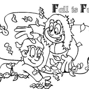 Autumn Leaf Is Fun Coloring Page