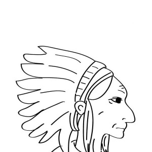 Native American Chief Prepare For Native American Day Coloring Page