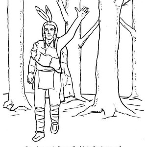 Native American Welcoming People On Native American Day Coloring Page
