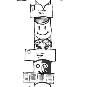 Picture Of Native American Totem On Native American Day Coloring Page