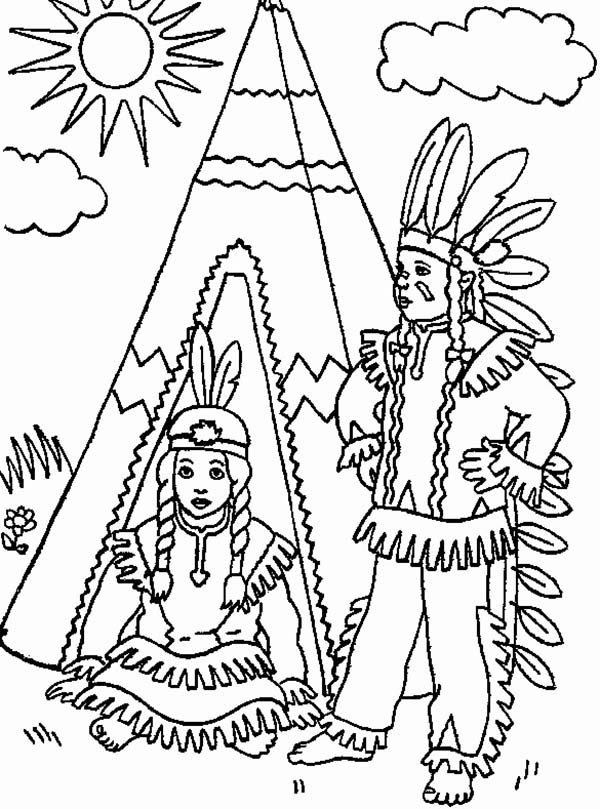 INDIAN coloring pages - Coloring pages - Printable Coloring Pages ... | 809x600