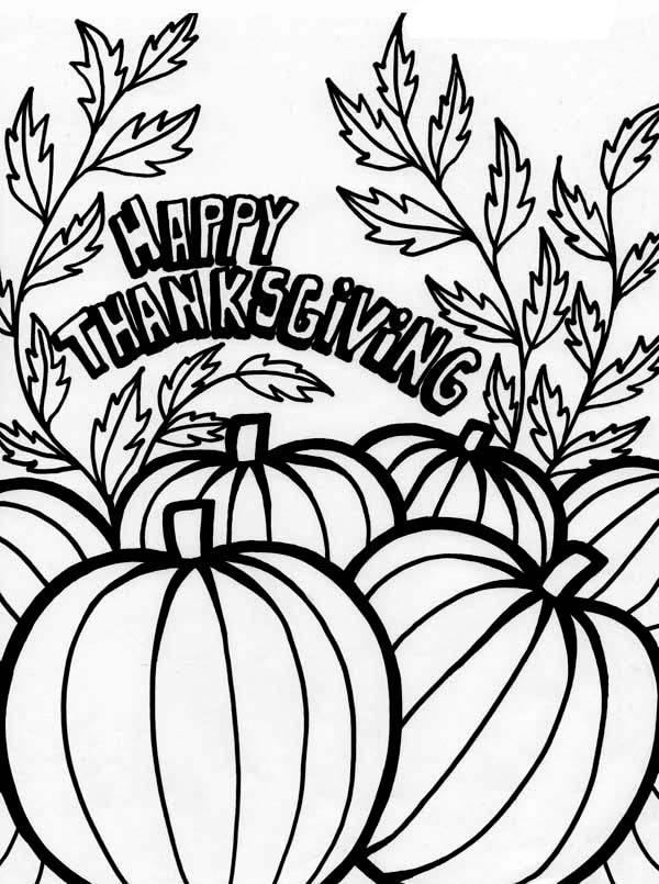 Canada Thanksgiving Day Tradition With Pumpkin Coloring