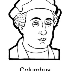 Columbus Figures On Columbus Day Coloring Page