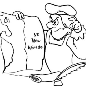 Confuse Columbus On Columbus Day Coloring Page