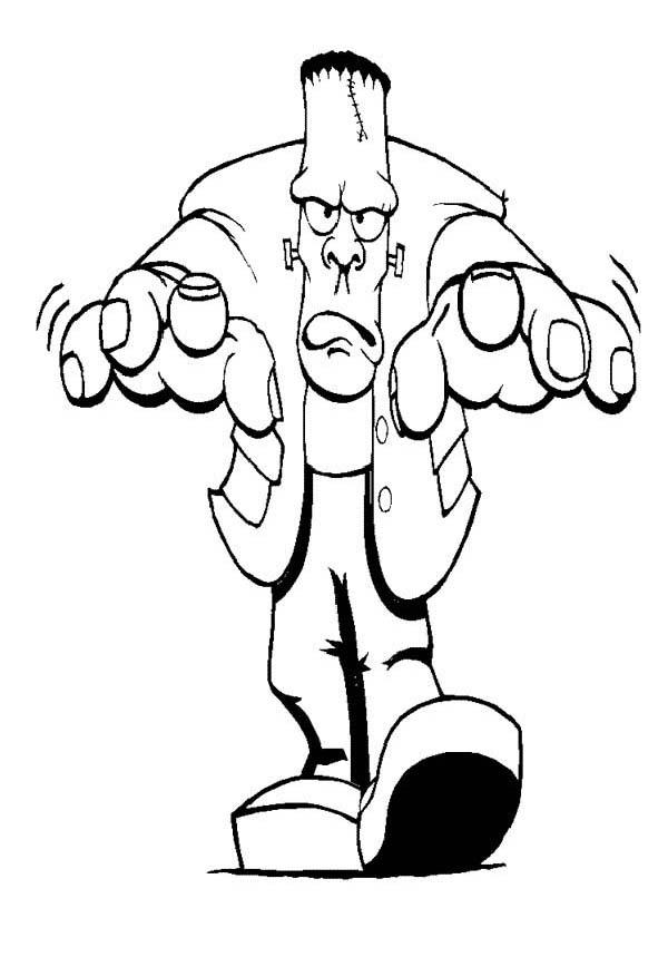 Furious Mr Frankenstein On Halloween