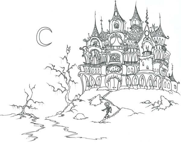 Haunted Castle On Halloween Day