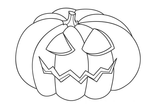 Jack O Lantern Head On Halloween Day Coloring Page Download Print Online Coloring Pages For Free Color Nimbus