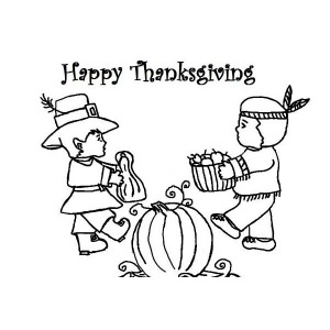 Sharing Foods With The Natives On Canada Thanksgiving Day Celebration By  Coloring Page