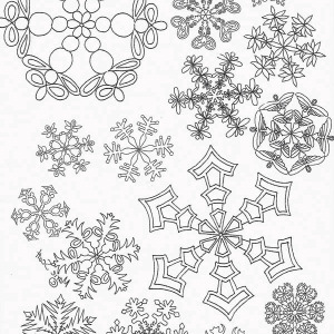 All Christmas Snowflakes Picture Coloring Page