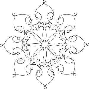 Beautiful Christmas Snowflakes Coloring Page