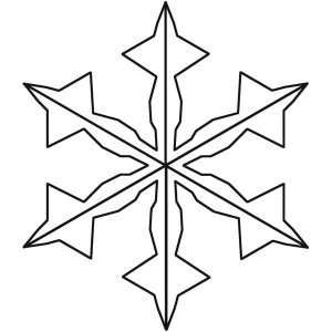 Charming Christmas Snowflakes Coloring Page