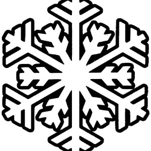 Christmas Snowflakes Coloring Page