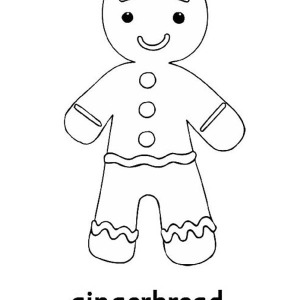 Little Mr Gingerbread Men On Christmas Coloring Page