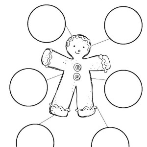 Mr Gingerbread Men As A Christmas Character Map Coloring Page