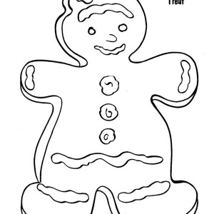 Mr Gingerbread Men As A Christmas Treat On Christmas Coloring Page