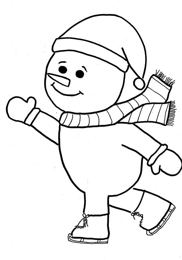 Ice Skating Coloring Page | All Kids Network | 858x600