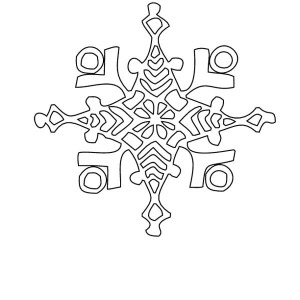 Winter Christmas Snowflakes Coloring Page